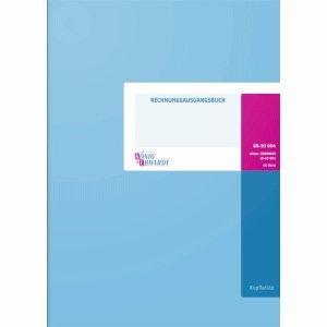 K+E Formularbuch Rechnungsausgangsbuch 42 Blatt Kopfleiste Karton hellblau