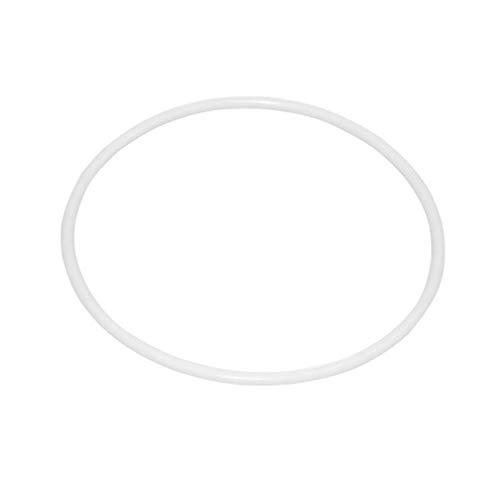 LIOOBO 10 pz cerchi di plastica bianchi acchiappasogni cerchio rotondo cerchio di avvolgimento cerchio di plastica per accessori fai da te manuali fatti a mano in vimini artigianato materiale (8.5 cm)
