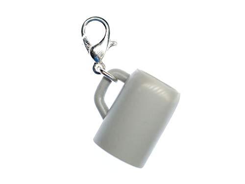 Miniblings Bier Krug Humpen Oktoberfest Charm Zipper Pull Maß Wiesn - Handmade Modeschmuck I Kettenanhänger versilbert - Bettelanhänger Bettelarmband - Anhänger für Armband
