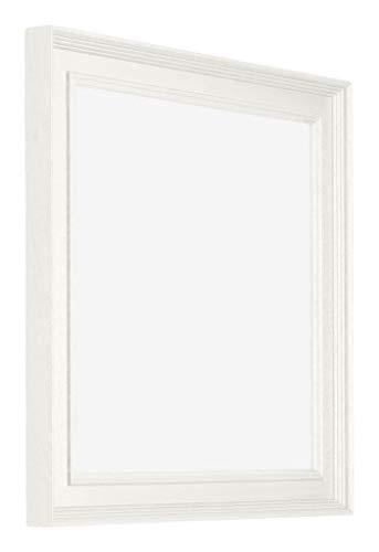 yd. - 40x40 cm - Bilderrahmen von Holz mit Acrylglas - Ausgezeichneter Qualität - Weiss - UV-beständige Glasplatte - Antireflex - Fotorahmen fur - London.