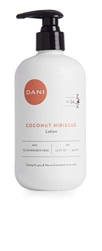 Natural Hand & Body Lotion by DANI Naturals - Tropical Coconut Hibiscus Scented Aromatherapy - Moisturizing Shea & Aloe - with Natural & Organic Ingredients - To Nourish Dry Skin - 12 Ounce Bottle