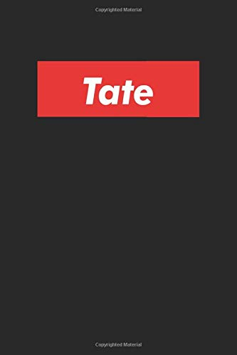 Tate: Notebook Gift for Tate Red Box, 120 Pages, 6 x 9 inches, Tate Men Gifts journal, Father's Day Gift , Gift Idea for Tate