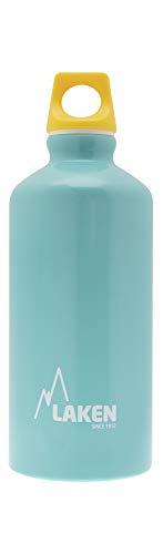 Bouteille d'eau en aluminium Futura de Laken avec bouchon à vis et goulot étroit, Gourde Alum 0,6 Litre, Bleu Clair