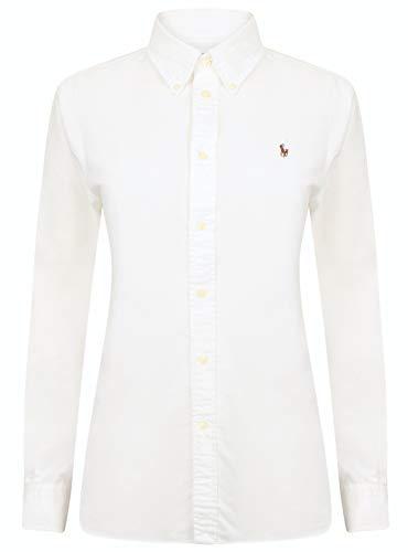 Ralph Lauren Damen Bluse/Hemd - Baumwoll-Hemd (Weiß, L)