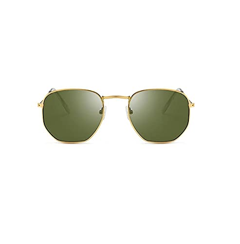 BAYSU Gafas de Sol Casual Casual Casual Marco Redondo Redondo Gafas de Sol Mujeres Distribuidor de aleación Mirror Gafas de Sol Vintage Simple Solding Sunglasses Gafas de Sol (Lenses Color : 04)