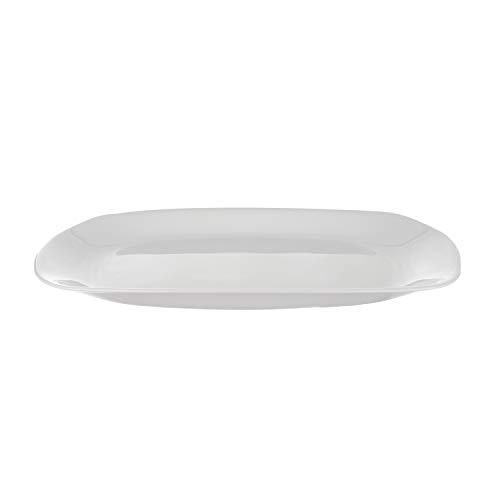 Piatto da portata rettangolare Parma in vetro opalino, da 20x28 cm Bianco
