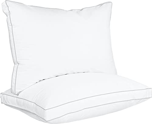 Utopia Bedding Gusseted Pillow (2-Pack) Premium Quality Bed Pillows -...