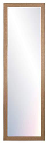Chely Intermarket- Espejos de Pared 35x140 cm (Marco Exterior 42x147 cm)(Haya) MOD-128   Salón, recibidor, Comedor, Acabado Elegante, Ideal para decoración.(128-35x140-6,15)