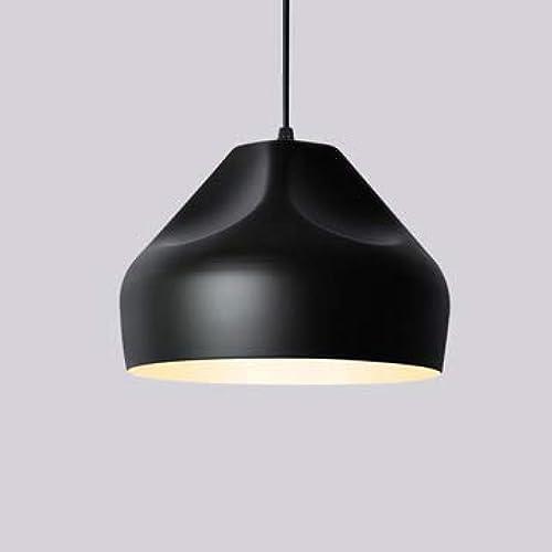QCKDQ Lustre Couleuré, lumière pendentife en Aluminium de Couleur, éclairage à la Maison de LED, pour Le café Restaurant thé au Lait patisserie Magasin de vêteHommests,noir,B