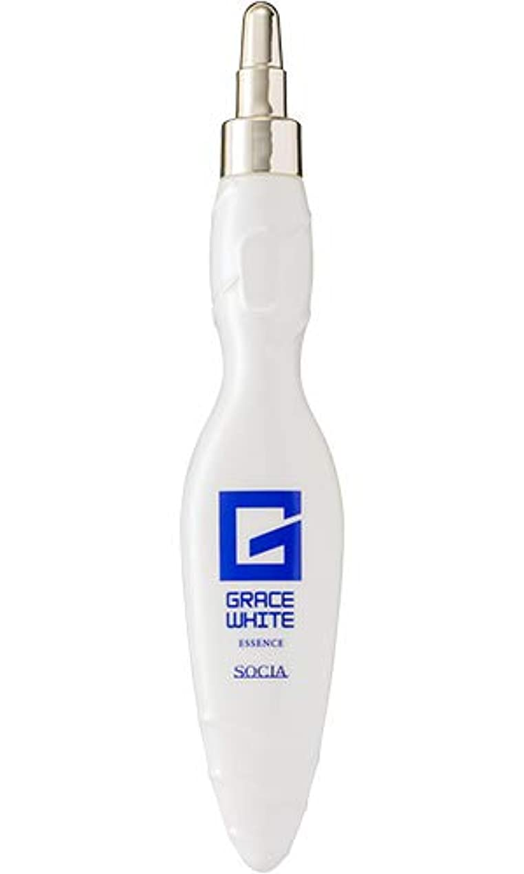 前提条件反射洞窟ソシア (SOCIA) グレースホワイトエッセンス ハリ 美白 美容液 (25ml 約1ヶ月分) 3種のコラーゲン配合 [医薬部外品]