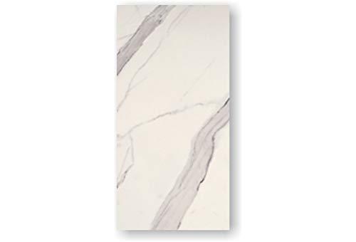 2 Stück Feinstein Fliesen CALACATTA (60×120×1cm) poliert weiß Wandfliesen Küche Wohnraum Bad Feinsteinzeugfliese Verkleidung