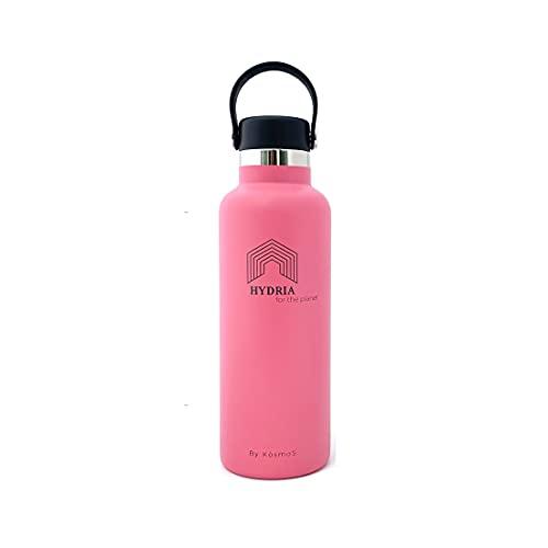 Hydra for the planet   Botella térmica   Interior de cerámica   Exterior de acero inoxidable 304   600 ml   BPA Free   Apto para bebidas gaseosas.