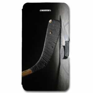 Cokitec Leather Flip case Schale iPhone 5 / 5S / SE Sport Glisse - Hockey Palet N