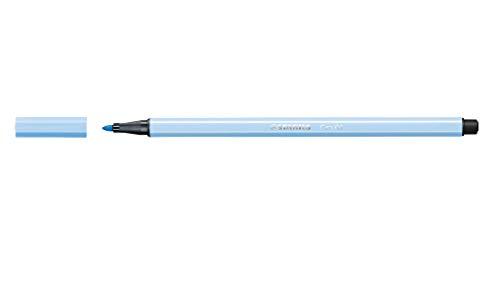 Caneta Hidrográfica, Stabilo, 54.4800, Azul Claro/Ice Blue, pacote de 10