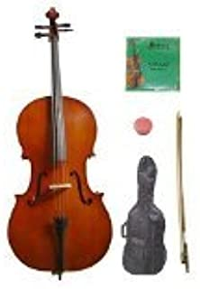 Bow and 2 Sets of Strings Merano MC150SST 4//4 Size Cello Hard Case with Bag Black