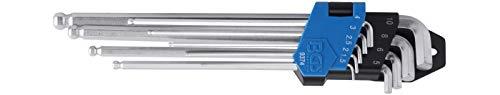 BGS 9374 | Winkelschlüssel-Satz | extra lang + extra kurz | Innensechskant/Innensechskant mit Kugelkopf 1,5 - 10 mm | 9-tlg.