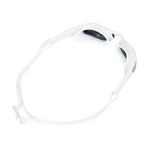Yeelur Googles, Gafas de natación Ajustables Unisex para Adultos, respetuosas con la Piel para Nadar(Marco Blanco Plateado, Tipo de Amor)