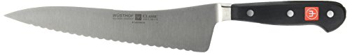 Wusthof CLASSIC Offset Deli Knife, One Size, Black, Stainless Steel