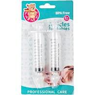 Jeringa Nasale Bebe con boquilla de silicona para uso suave para niños pequeños y niños pequeños por 4