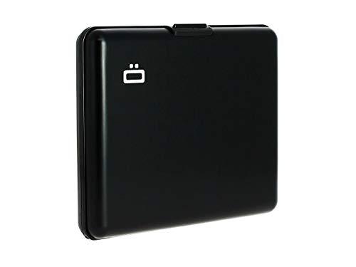 ÖGON Smart Wallets - Portafogli Big Stockholm - Protezione RFID: Protegge Le tue Carte Contro Le Frodi - Alluminio Anodizzato (Nero)