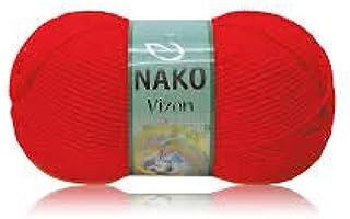 Nako VIZON Knitthing Hand Yarn -RED 207