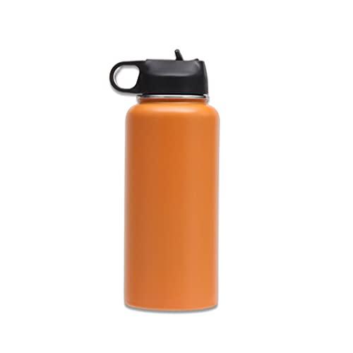 LEAMER Borraccia in acciaio inox, 1000 ml, tappo sportivo a prova di perdite, con cannuccia per sport, bottiglia isolata sottovuoto, per lavoro, palestra, viaggi e sport