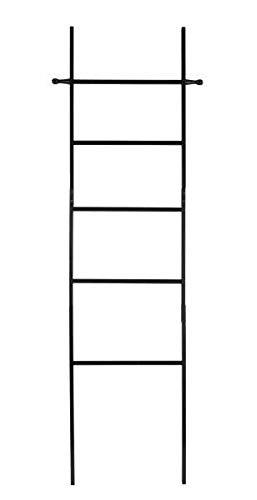 Wenko Escalera para Toallas, bambú, Negro, Klein, 43 x 170 x 33 cm