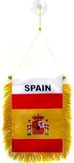 AZ FLAG BANDERIN de ESPAÑA 15x10cm con Ventosa - BANDERINA ...