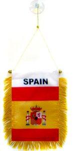 AZ FLAG Wimpel Spanien 15x10cm - SPANISCHE Mini Flagge 10 x 15 cm - Auto Pennant spezielle Auto