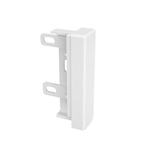 Habengut  Endkappe Ausführung rechts für Sockelleiste aus PVC, Farbe: Weiß  Inhalt: 1 Stück - für einen sauberen Abschluss