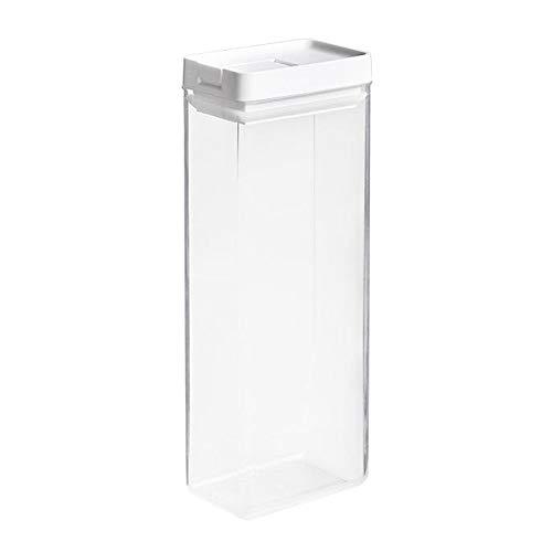 LOVIVER Caja de plástico Transparente hermética de Almacenamiento de Alimentos de Cocina, Seca y Fresca, Duradera - 1600ml