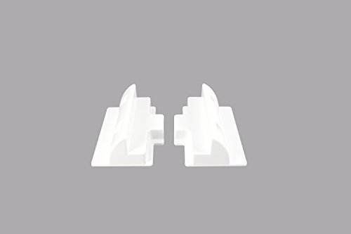 enjoysolar® ABS Haltespoiler Solarmodul Halterung sepzial für Wohnmobile Caraven Boot (2er Set Verbindungsprofile 180mm)