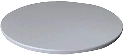 Yikko Mantel redondo antideslizante de 120 cm, lavable, elástico, impermeable, de poliéster, para casa, fiestas, cenas de vacaciones, restaurante (gris, 120 cm)
