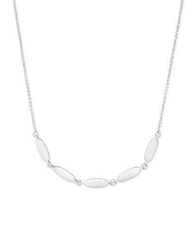 Kendra Scott Fern Collar Necklace for Women, Fashion Jewelry, 14k Rhodium Plated