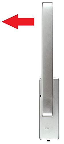 GU Schiebetür PSK Drehgriff DIRIGENT 966/976 DIN Rechts silber EV1 mit Aussperrsicherung incl. SN-TEC Montageschlüssel