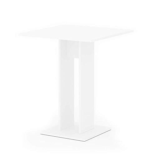 Vicco Esstisch EWERT Küchentisch Esszimmer Tisch Säulentisch weiß 65x65 cm (Weiß)
