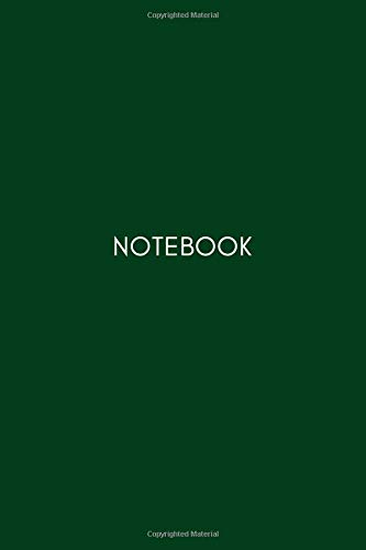 Notebook: Lined Notebook, Dark Green style (Journal to Write in) (Daily Notebook, Band 12)