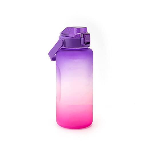 STST Borraccia per Sport all'Aria Aperta di Grande capacità in Materiale tritan di Colore sfumato da 2200 ml per Bambini, Adulti, Palestra, Ciclismo,Purple Red
