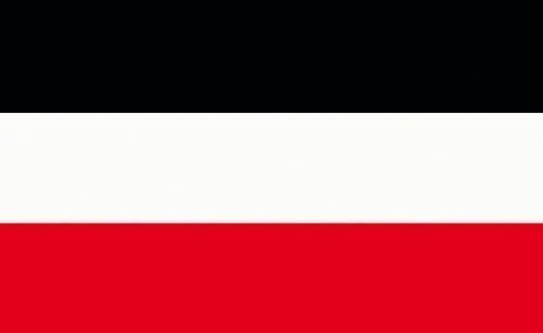 Commando Industries Verschiedene Flaggen Landesfahnen 150 x 90 cm mit Zwei Metallösen zur Befestigung und zum Hissen (Kaiserreich, 90 x 150 cm)
