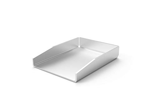 ELITE BBQ V2A Edelstahl Universal Grillplatte BBQ Plancha 20 x 15 massiv 4mm Stärke Grillblech Bratplatte geeignet für Holzkohlegrills Gasgrills wie Weber Napoleon Grill Campingaz Broil King