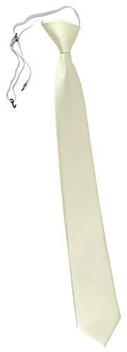 TigerTie Corbata de seguridad XXL en un solo color, superficie acanalada, corbata preatada con goma elástica. Beige Elfenbein Champagner Talla única