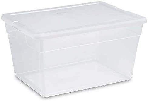Sterilite 56 Quart Clear Plastic Storage Container Box with Latching Lid 16 Pack