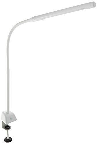 オーム電機 デスクライト LED クランプライト シンプル 白 OAL-L14G-W