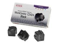 Solid ink cartridge Original Xerox 3 units Black 108R00663 for Xerox WorkCentre C 2424 DN