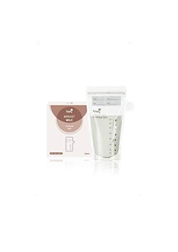 Kiwy Sacche Per La Raccolta e Conservazione Del Latte Materno, Sacche Pre-Sterilizzate BPA free,200ml (30pz)