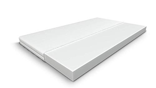 Happy Babies - Single foam Mattress, for your Baby, Child or Teenager Covered with Moisture Resistant and Breathable Material. 7 cm thick (70 x 140 cm)