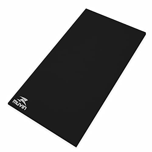 Colchonete Yoga Pilates Eva - 100cm x 50cm x 1cm - Muvin - Preto - 1 cm