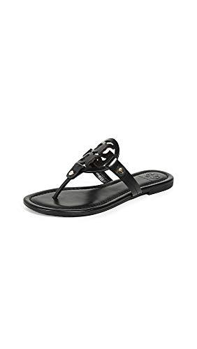 Tory Burch Women's Miller Thong Sandals, Black, 6.5 Medium US