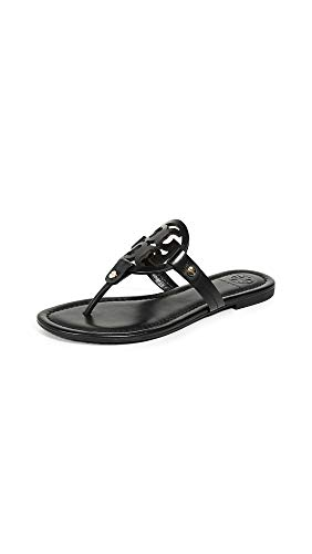 Tory Burch Women's Miller Patent Thong Sandal, Black, 10.5 Medium US