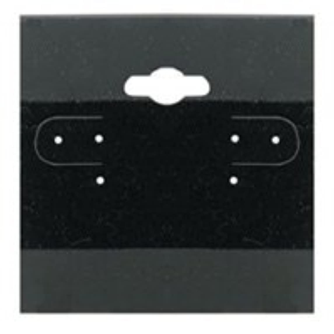 Beadaholique Earring Display Hang Cards Black Flocked 2 X 2 Inch (100)